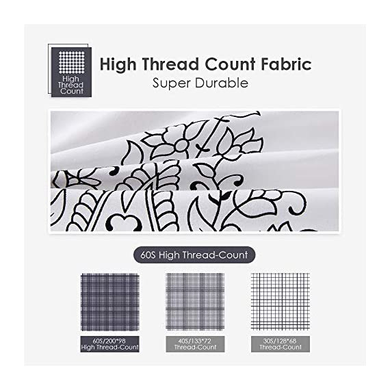 Agedate 4 Piece Brushed Microfiber Bed Sheets Set, Deep Pocket Bed Sheets Queen, Hypoallergenic, Easy to Care, Fade, Stain and Wrinkle Resistant, Queen Size, White and Black Paisley Patterned - ★〖100% Brushed Microfiber〗: Our brushed microfiber sheets are composed of extremely fine fibers of polyester, which are ultra-breathable, ultra-soft and affordable, offer you a luxury hotel-like sweet sleep experience, no more sweaty and sleepless nights. ★〖Breathable and Hypoallergenic〗: We pursue the best and adopt premium microfiber fabric which is mild and non-itching to the skin, free from stimulation, an ideal choice for allergy sufferers. ★〖Durable and Colorfast〗: Using the newest stitching technology, the sheets have high density and exquisite seam which make it will not shrink or pill. Owing silky elegant luster and higher color fastness than cotton fabrics, our bed sheet set is a great gift idea for men and women, Moms and Dads, Valentine's - Mother's - Father's Day and Christmas. - sheet-sets, bedroom-sheets-comforters, bedroom - 51eRQTGFazL. SS570  -