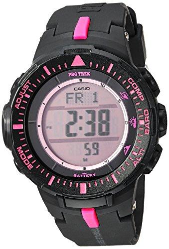 300 Black Resin Watch - Casio PRO Trek Quartz Watch with Resin Strap, Black, 18 (Model: PRG-300-1A4ER)