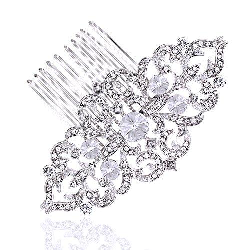 lotus short bridal handmade luxury austrian crystal hair