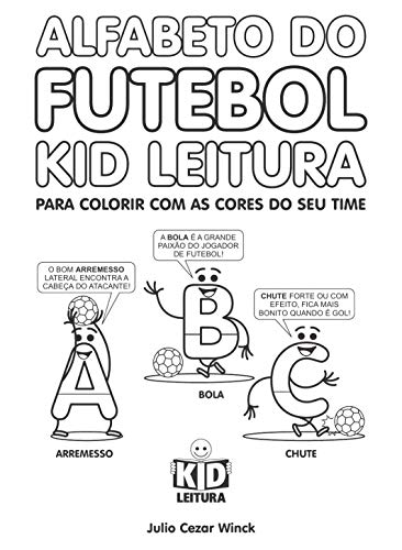 Amazon Com Alfabeto Do Futebol Kid Leitura Para Colorir Com As