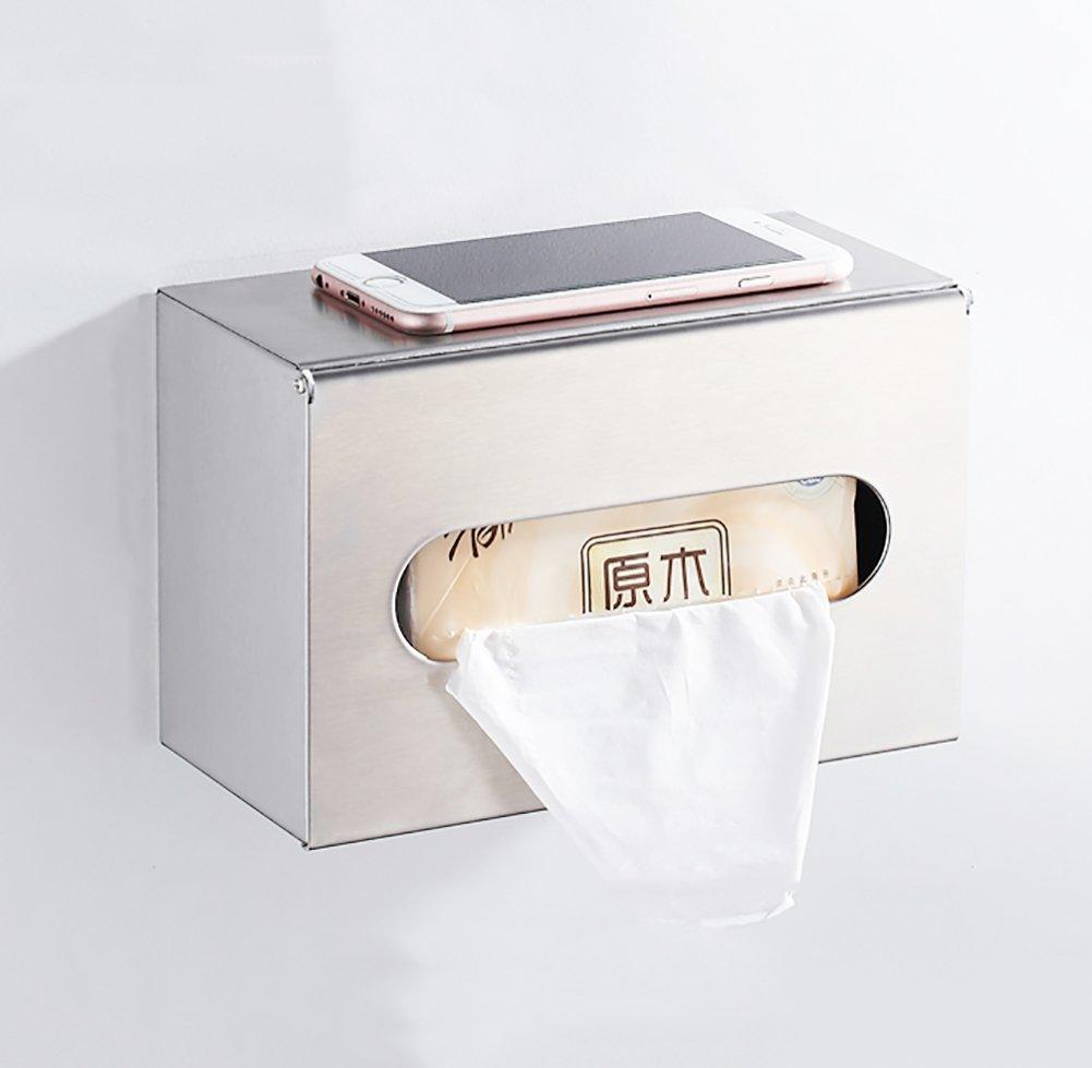 Q&F 304 Stainless Steel Toilet Paper Holder,Toilet Paper Roll Holder -wall Mount,Waterproof, Moisture Proof,Heavy Duty-B