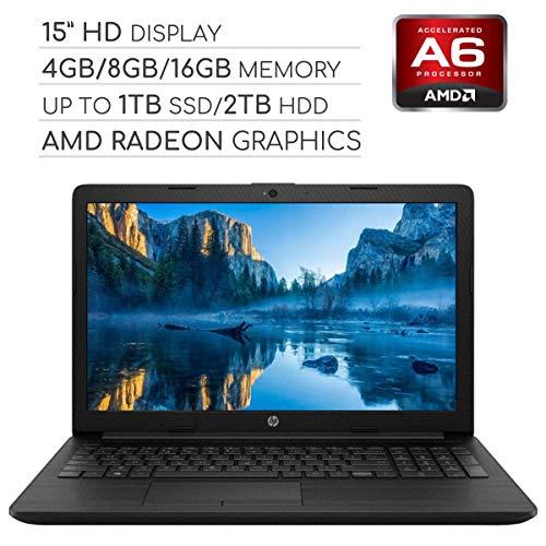 HP Pavilion 2019 15.6 HD LED Laptop Notebook Computer PC, 2-Core AMD A6 2.6GHz/Intel Celeron 1.6GHz, 4GB/8GB RAM, up to 1TB SSD/2TB HDD, DVD, HDMI, RJ-45, USB 3.0, Bluetooth, Webcam, Wi-Fi, Windows 10