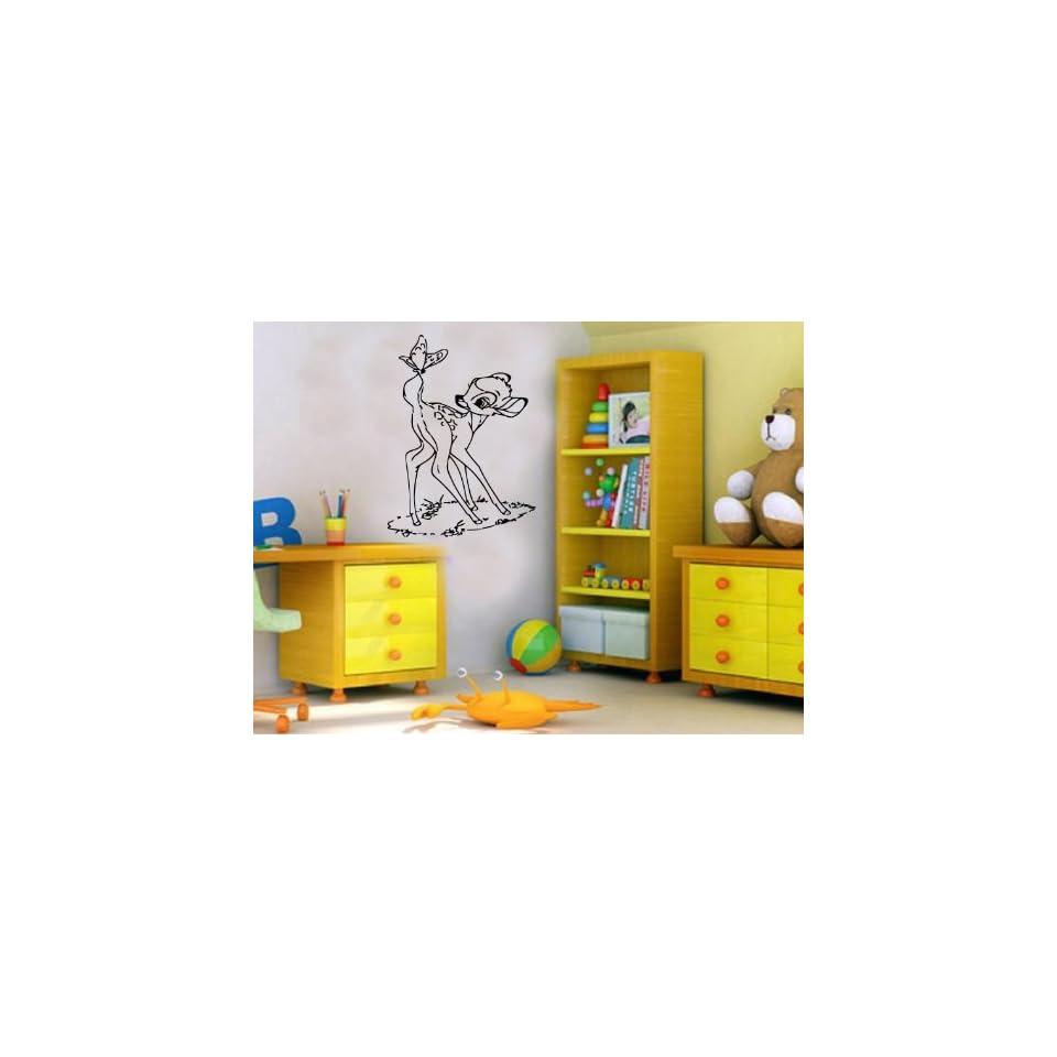 Bambi Cartoon Disney Nursery Room Boys Girls Kids Toddlers Mural Vinyl Decal Sticker D 141