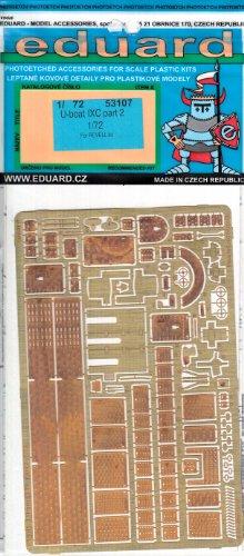 EDU53107 1:72 Eduard PE - U-Boat Type IX C Detail Set Part 2 (for use with the Revell kit) MODEL KIT ACCESSORY