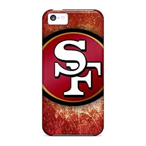Diamondcase2006 Scratch-free Phone Cases For Iphone 5c- Retail Packaging - San Francisco 49ers Logo