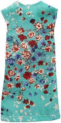 Tachiuwa 27-29cmの人形のためのの方法人形の袖なしの緩いシフト服 - 青 - 緑