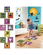 Decoratieve Halloween-stickers, 10 vellen Halloween vloerstickers, heks, pompoen, geest Halloween vloerstickers stickers voor kinderen, Halloween partybenodigdheden, thuisdecoratie, schooldecoratie