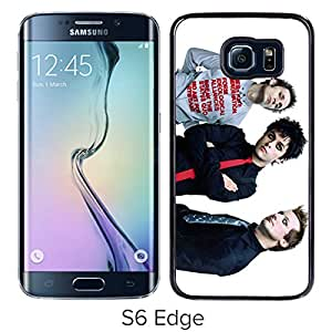 New Fashion Custom Designed Cover Case For Samsung Galaxy S6 Edge With Green Day 2 Black Phone Case
