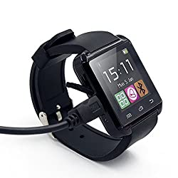 Amazingforless Black Bluetooth Touch Screen Smart Wrist Watch