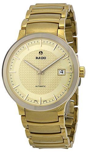 Rado Centrix Automatic Gold Dial Yellow Gold-Plated Mens Watch R30279253