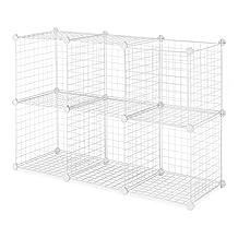Whitmor 6071-968-WHT  White Storage Cubes, 6-Set