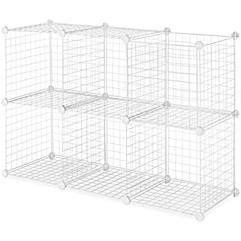 Whitmor Storage Cubes S/6, White Wire