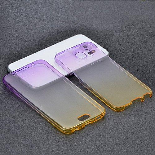 Funda Doble para Samsung Galaxy S6, Vandot Bling Brillo Carcasa Protectora 360 Grados Full Body   TPU en Transparente Ultra Slim Case Cover   Protección Completa Delantera y Trasera Cocha Smartphone M JBQB 01