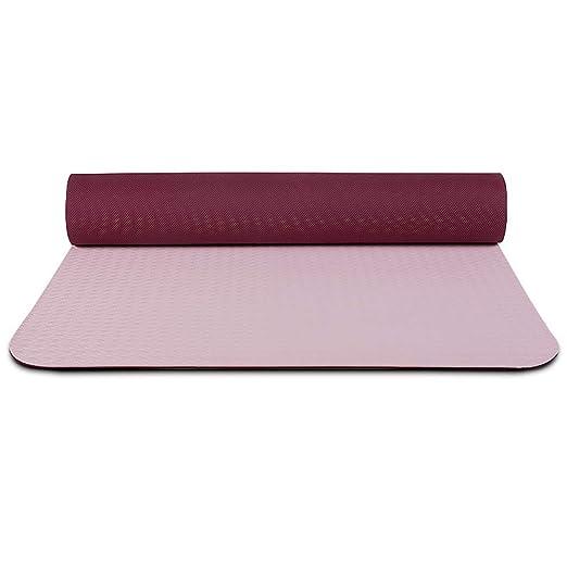 Esterilla de yoga portátil, TPE antideslizante esterilla de ...