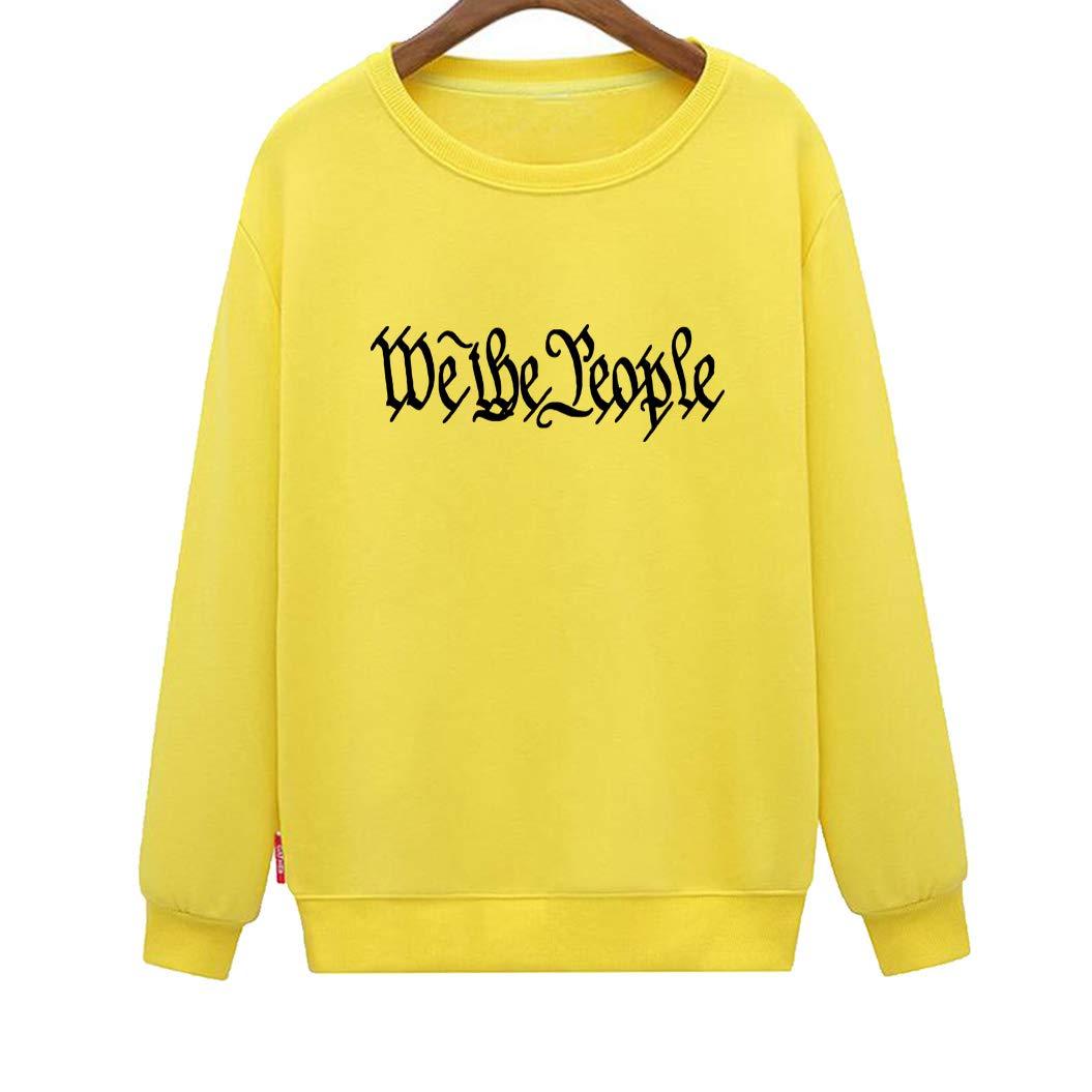 CINFUN Womens We The People Fashion Letter Print Sweatshirt