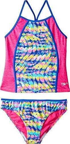 Speedo Rhythmic Tie Dye Tankini Two Piece Swimsuit, Multi, Size 8 (Piece Two Speedo Swimsuit)