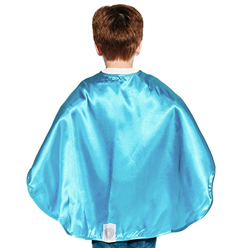 Light Blue Polyester Satin Superhero Cape - Kids ()