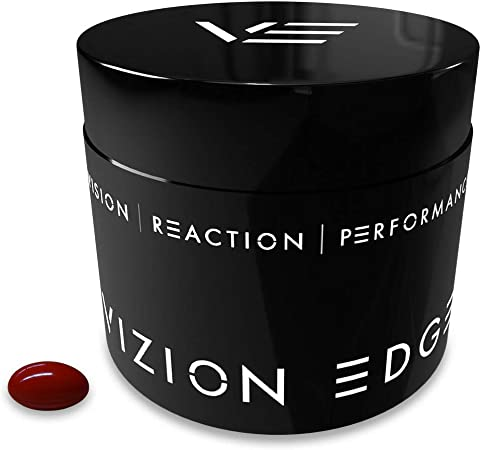 Vizion Edge Eye Vitamins Supplement for Athletes (30 Softgels, 1 Month Supply) Formula with Lutein, Zeaxanthin, and Meso-Zeaxanthin   Improve Visual Performance and Reaction Times for Sports