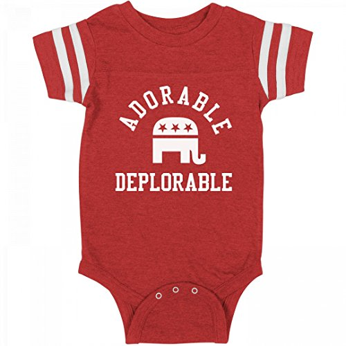 FUNNYSHIRTS.ORG Adorable Deplorable Baby Onesie: Infant Rabbit Skins Football Bodysuit