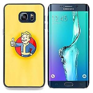 """Qstar Arte & diseño plástico duro Fundas Cover Cubre Hard Case Cover para Samsung Galaxy S6 Edge Plus / S6 Edge+ G928 (Bóveda Boy Póster"""")"""