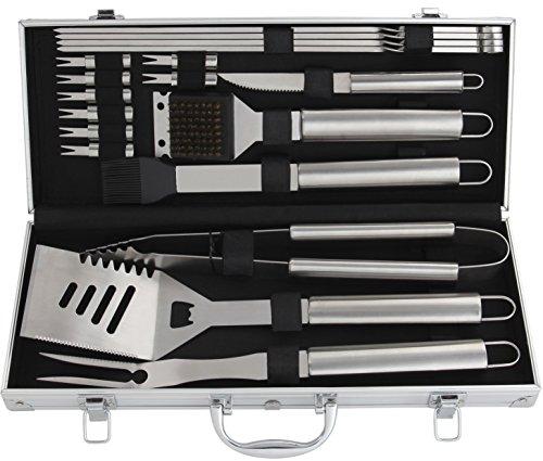 Romanticist 18 PC Kit Barbecue in Acciaio Inox - Kit Barbecue Premium per Uomo Regalo di Compleanno di papà - Perfetti… 1 spesavip