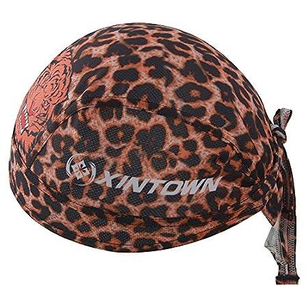 HYSENM Men Fashion Quick Dry Breathable Cycling Sports Bandana Cap Headscarf Helmet Liner Headwear Hat Sun UV Protection, JJ-1