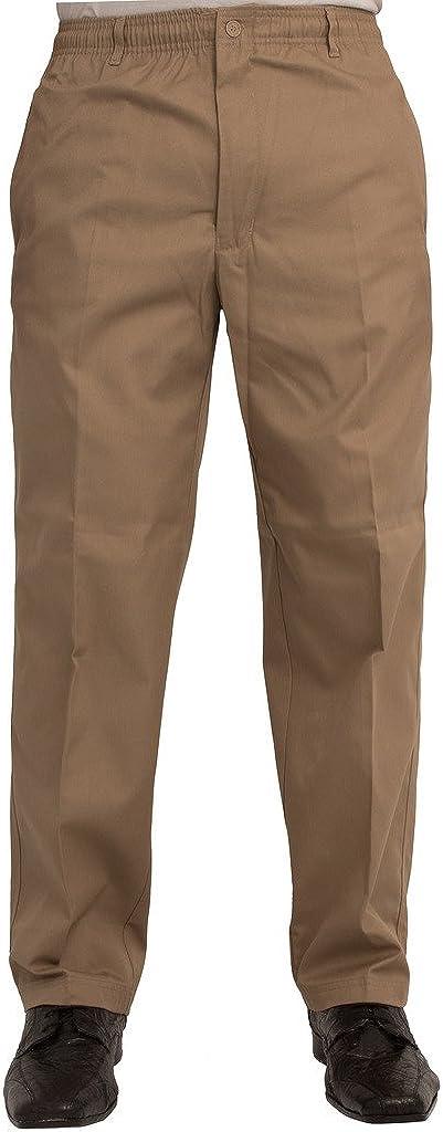 Carabou Cintura 81 a 152 cm Pantalones informales con cintura el/ástica con cord/ón ajustable