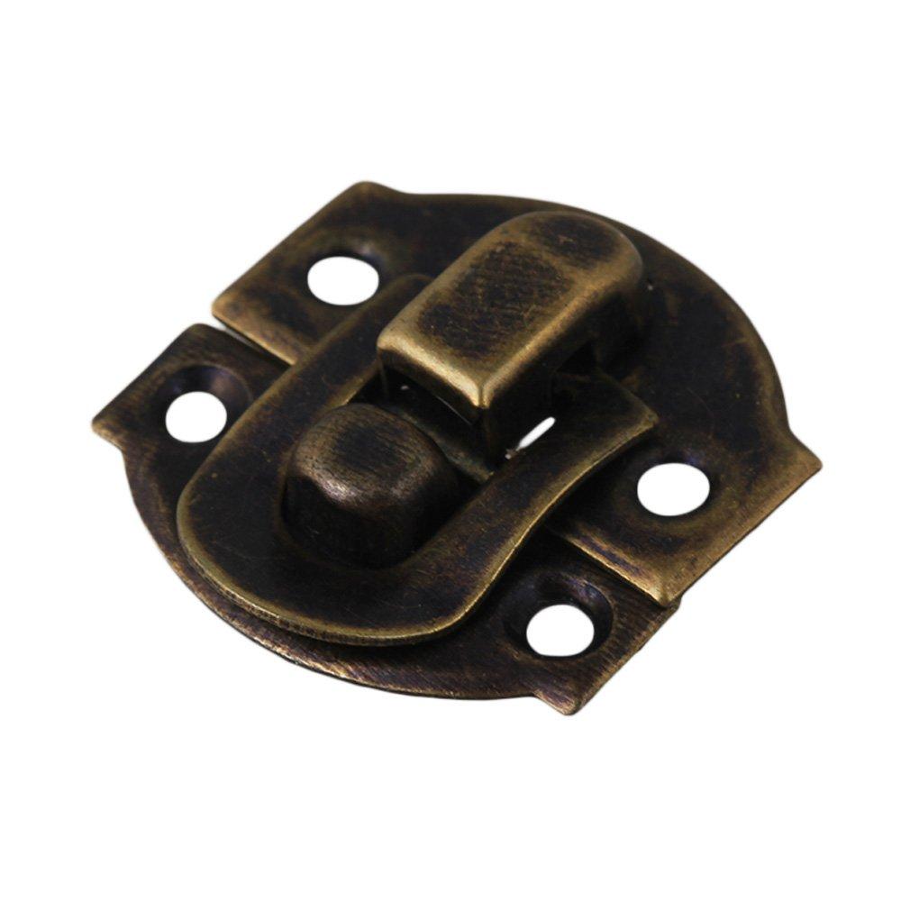 10 St/ück Antik Vintage Bronze Schnalle Schmuckschatulle Mini Box Vorh/ängeschloss Hasp 21x20 MM Box Lock-Scharnier