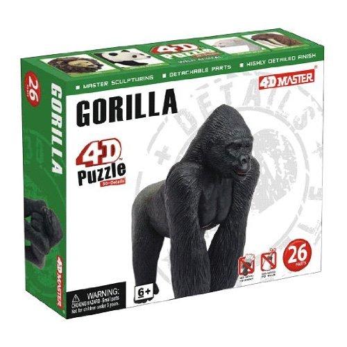 4D Master Gorilla Model Puzzle (26 Piece), One Color -
