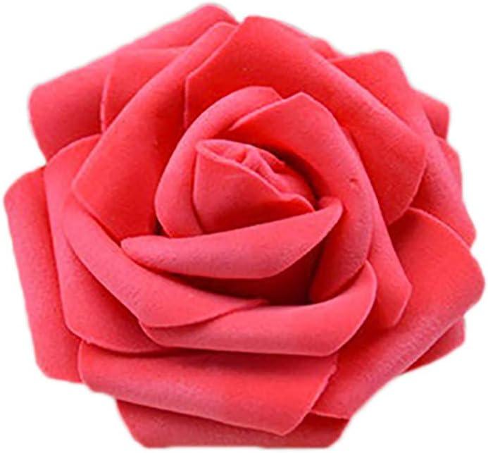 Amesii Lot de 50/roses artificielles en mousse pour bouquet de mari/ée et d/écoration de f/ête de mariage