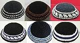 6 PCS Set Kippah Lot SkullCap BLACK Chabad Yamaka Yarmulke Kippa Judaica Jewish