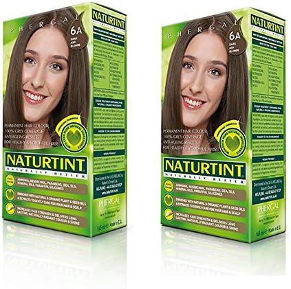 Naturtint Permanente Pelo Color – 6 A Rubio Oscuro ceniza) (2 unidades)
