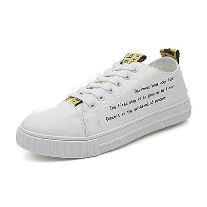 Xiaojuan-shoes, Mocasines Casuales de los Hombres con Cordones Antideslizantes Zapatos Planos Deportivos Low