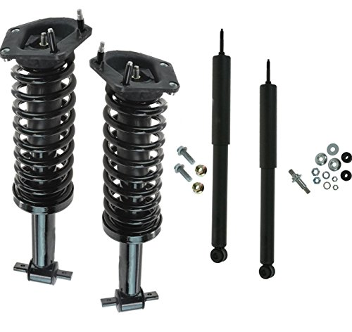 (DTA 70101X Full Set Struts Shocks 1993-2002 Chevrolet Camaro Pontiac Firebird - 2 Front Complete Struts with Springs Mounts + 2 Rear Shocks)
