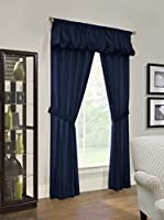 Thermalogic Prescott Insulated Grommet-Top Panels, 80 Inches by 84 Inches, Navy