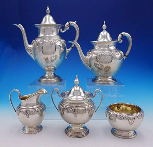 Stradivari by Wallace Sterling Silver Tea Set 5-Piece (#3342)