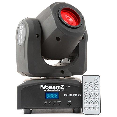BeamZ Panther 25 LED – Accesorio de discoteca, LED, 1 lámpara(s), 12 W, 8 Colores, Activado por Sonido, Negro