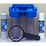 BLUONICS Dual Whole House Water Filter Purifier > Carbon Block and Sediment Filters Included