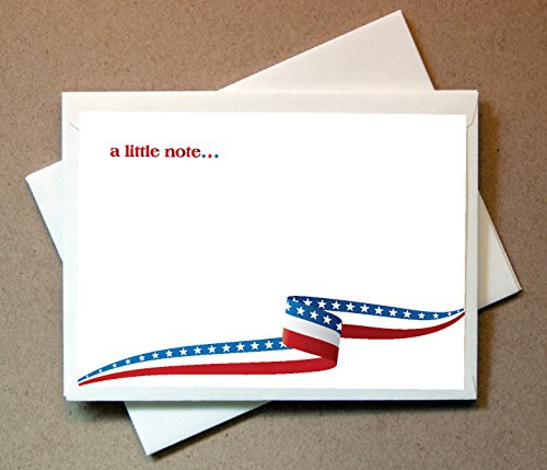- Patriotic Note Cards (24 Flat Cards and Envelopes)