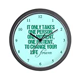 CafePress – One Person – Unique Decorative 10″ Wall Clock For Sale