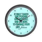 CafePress – One Person – Unique Decorative 10″ Wall Clock For Sale