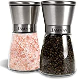 I AM WAY Professional Salt and Pepper Grinder Set – Premium Stainless Steel Salt and Pepper...