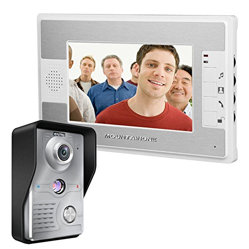 - MOUNTAINONE 7 Inch Video Door Phone Doorbell Intercom Kit 1-camera 1-monitor Night Vision SY812MKW11
