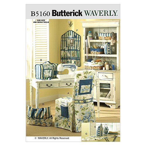 Room Decor Sewing Pattern - BUTTERICK PATTERNS B5160 Sewing Room Items, One Size Only