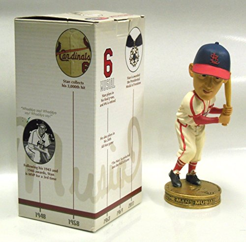 STAN MUSIAL SGA ST LOUIS CARDINALS BOBBLEHEAD BRAND NEW NIB - Wall Art Ticket Baseball