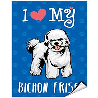 I Love My Bichon Frise Dog Vinyl Label Decal Sticker Vinyl Label 7 X 10  Inches: Amazon.com: Industrial U0026 Scientific