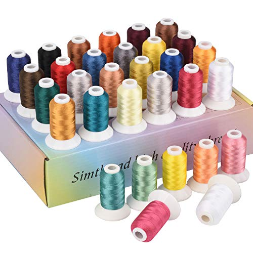 Best Price Simthread 32 Spool Madeira Color Polyester Embroidery Machine Thread Kit 500M (550Y) Simi...