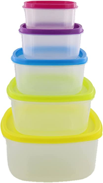 IMUSA - 10 recipientes de almacenamiento de alimentos de plástico ...