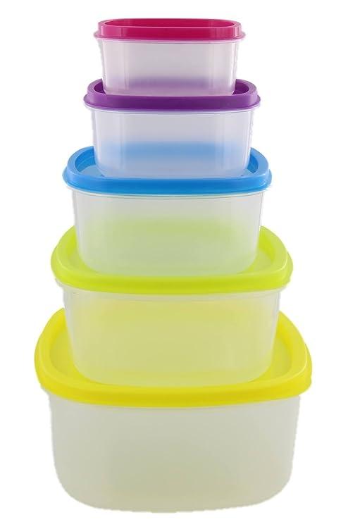 IMUSA - 10 recipientes de almacenamiento de alimentos de ...