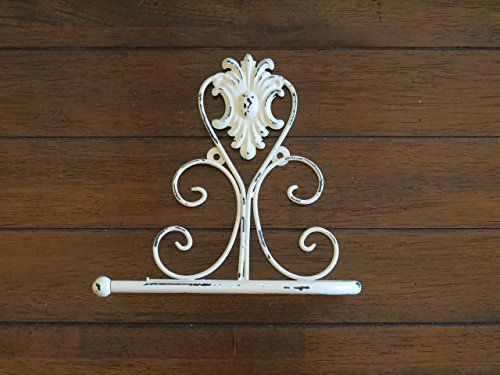 Toilet Paper Holder / Creamy White or Pick Your Color / Shabby Chic Bathroom Accessories / Tissue Holder / TP Hanger / Cottage Chic Bathroom